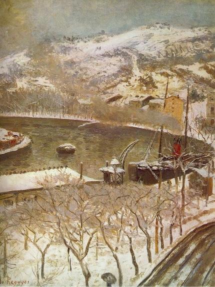 Dario de Rogoyos - Bahia de Bilbao con nieve