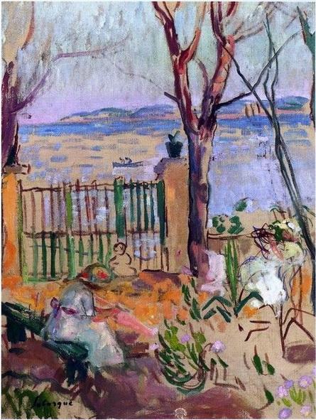 Henri Lebasque - Garden by the sea in St Tropez