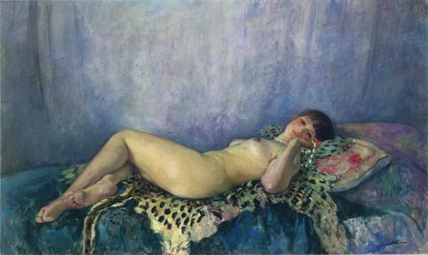 Henri Lebasque - Nude on a Leopard Skin