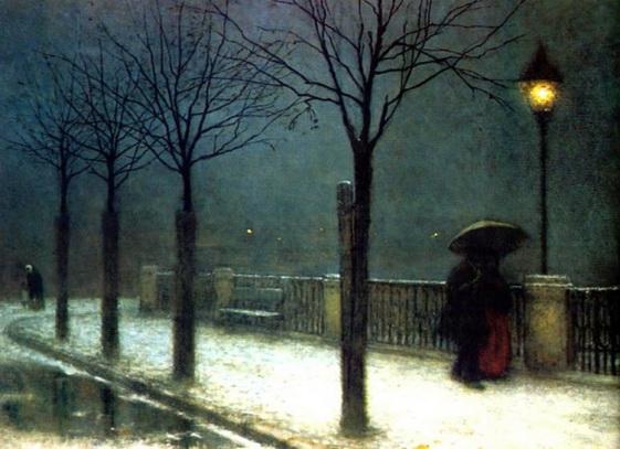 Jakub Schikaneder - winter night