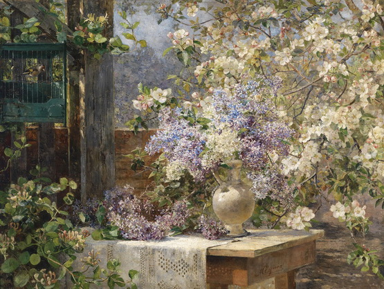 Marie Egner - In The Blossoming Bower