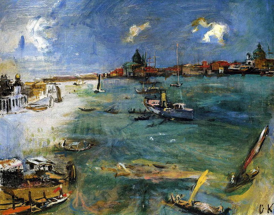Oskar Kokoschka - Venecia, botes en el Dogana