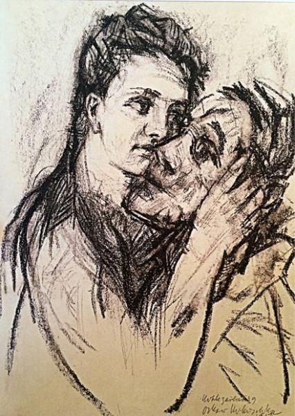 Oskar Kokoschka - Alma Mahler and Oskar Kokoschka