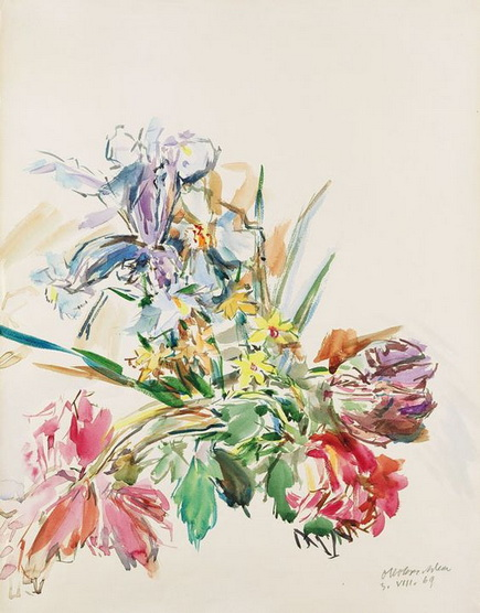 Oskar Kokoschka - Floral still life