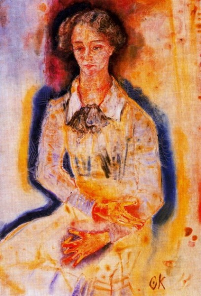 Oskar Kokoschka - Portrait of Lotte Franzos