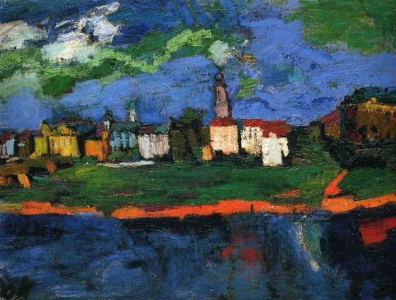 Oskar Kokoschka - The Elbe Near Dresden