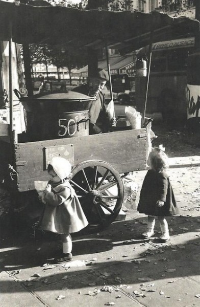 Edouard Boubat - The Chestnuts Vendor, Paris 1956