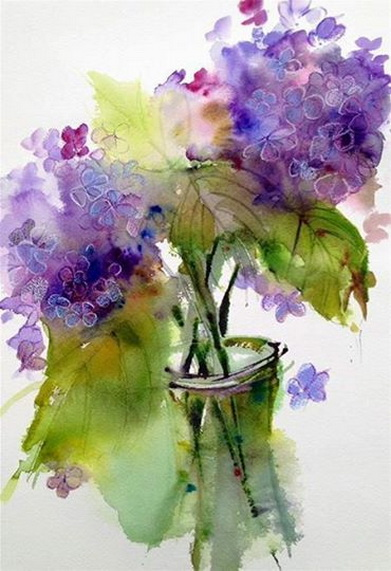 Pamela Harnois - Shades of Blue Hydrangeas