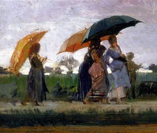Cristiano Banti - Walking in the Rain