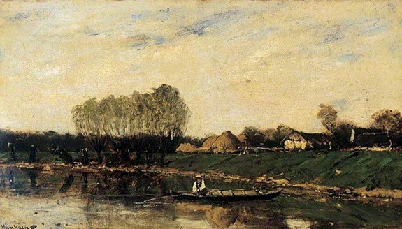 Mihaly Munkacsy - The Banks of a River