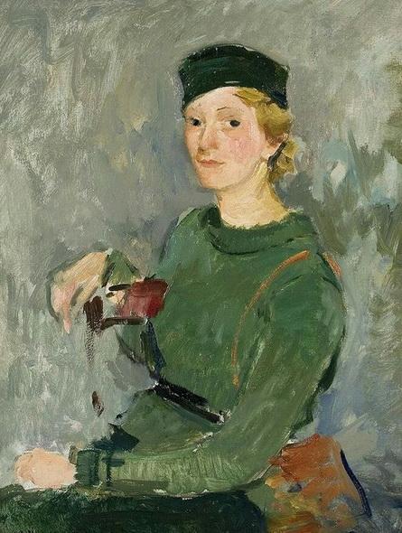 Georg Hambuchen - Portrait of Young Woman