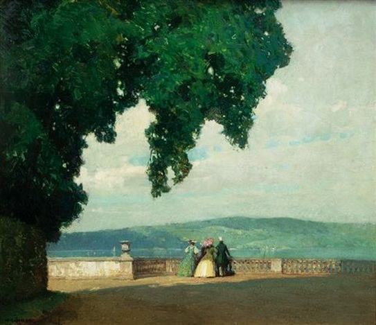 Hermann Gohler - Terrace by Lake Constance