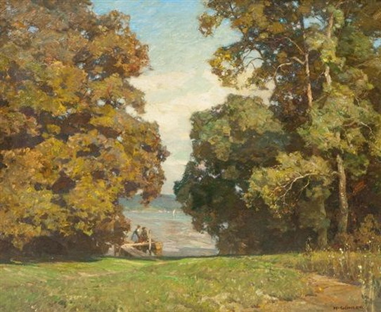 Hermann Gohler - September Day by Lake Starnberg
