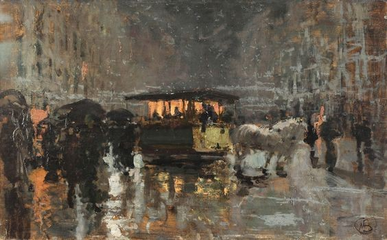 Mose Bianchi - Il tram del Carrobbio