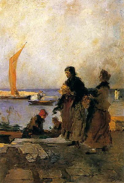 Mose Bianchi - Sul molo di Chioggia