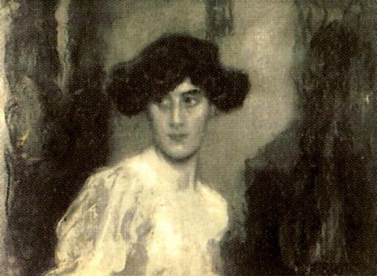 Arturo Rietti - Ritratto della signora Giaccone Oneglia