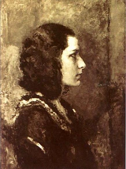 Arturo Rietti - Ragazza di profilo