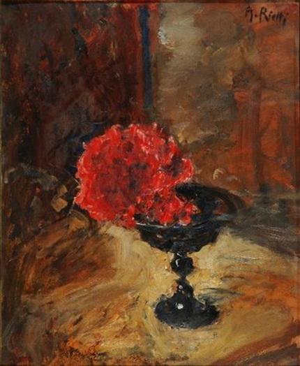 Arturo Rietti - Fiori rossi
