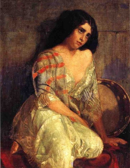 Thomas Couture - Gipsy Woman