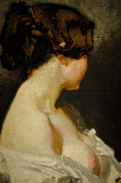 Thomas Couture - Woman in Profile