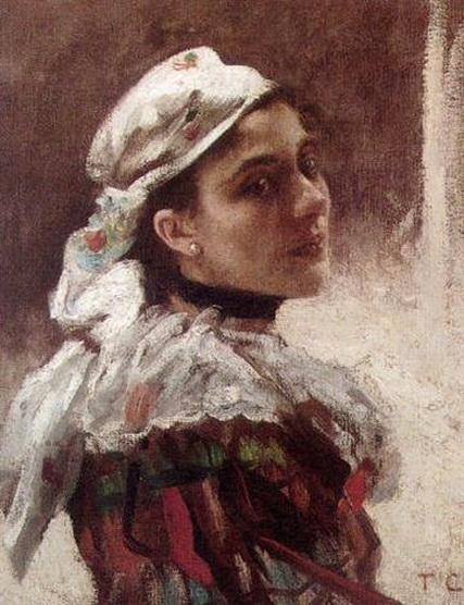 Thomas Couture - Portrait d'une jeune fille