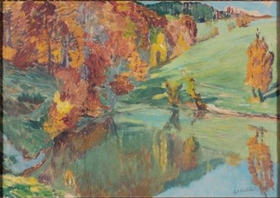 Antonin Hudecek - Jezirko v podzimu