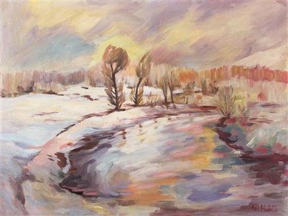 Antonin Hudecek - Winterlandschaft