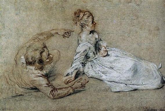 Antoine Watteau - Sitting Couple