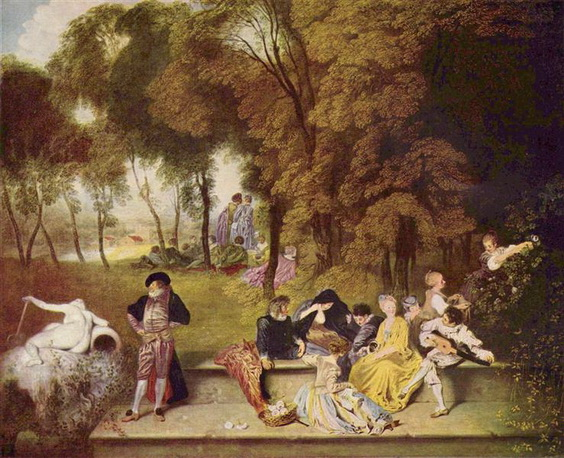 Antoine Watteau - Merry Company in the Open Air
