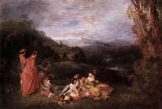 Antoine Watteau - Peaceful Love