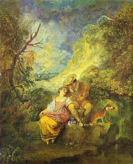 Antoine Watteau - The Bird Nester
