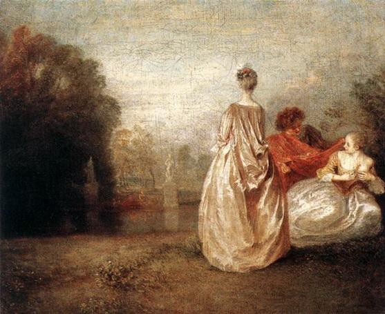 Antoine Watteau - Two Cousins