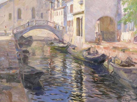 Leonardo Bazzaro - Canale veneziano
