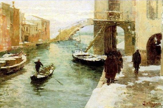 Leonardo Bazzaro - Inverno a Chioggia