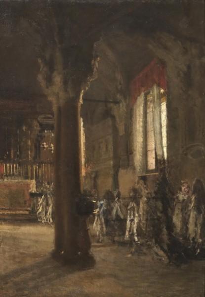 Leonardo Bazzaro - La cappella nella chiesa delle Grazie a Milano