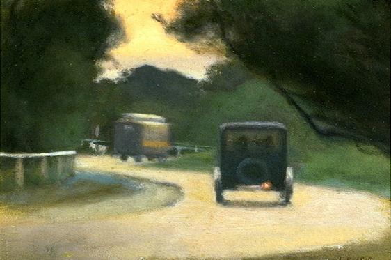 Clarice Beckett - Beach Road, Beaumaris