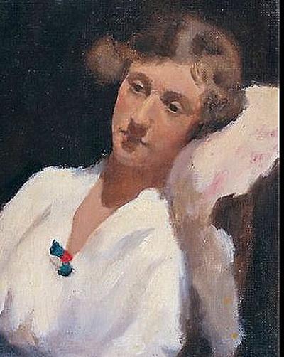 Clarice Beckett - Portrait Study Hilda