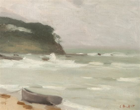 Clarice Beckett - Stormy Seas Mentone Cliffs