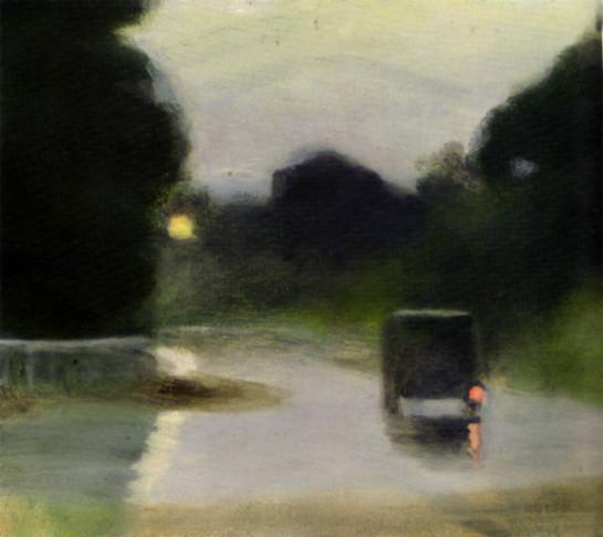 Clarice Beckett - wet evening