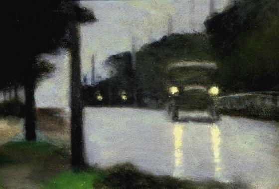 Clarice Beckett - Motor Lights'