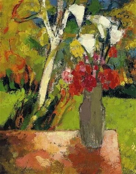Bernard Cathelin - Bouquet d'aromes a l'arbre