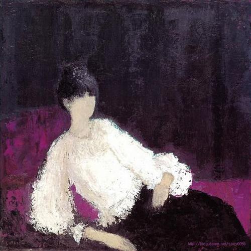 Bernard Cathelin - Jeune femme au corsage