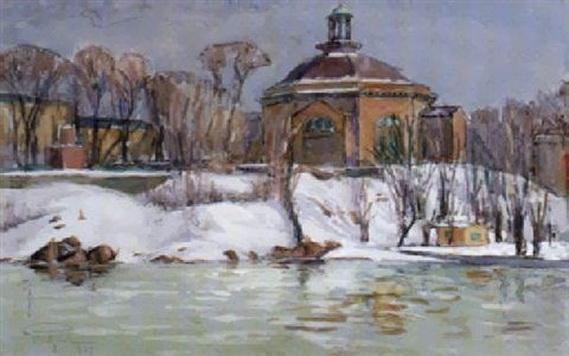Prince Eugen Napoleon Nicolaus - Skeppsholmskyrkan, vinter