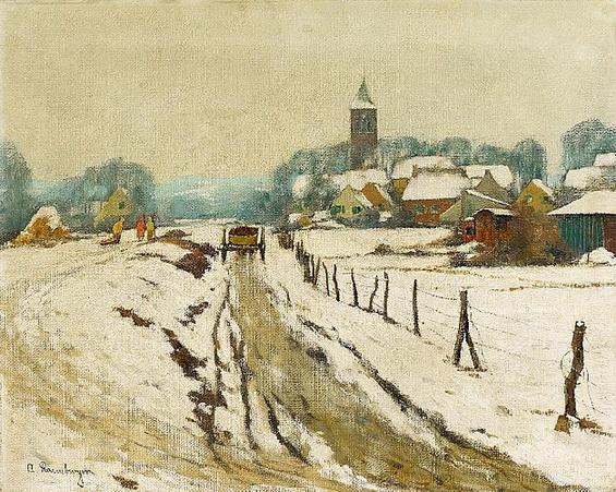 rasenberger alfred - Winterliches Dorf