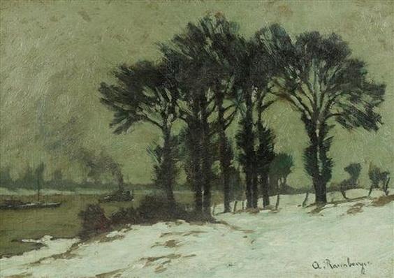 rasenberger alfred - Wintertag am Rhein