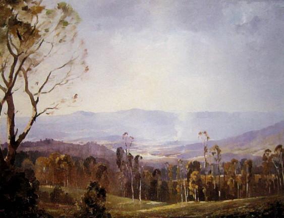 Albert Ernest Newbury - Misty Valley