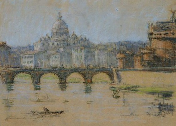 Janet Cumbrae-Stewart - Rome from the Tiber