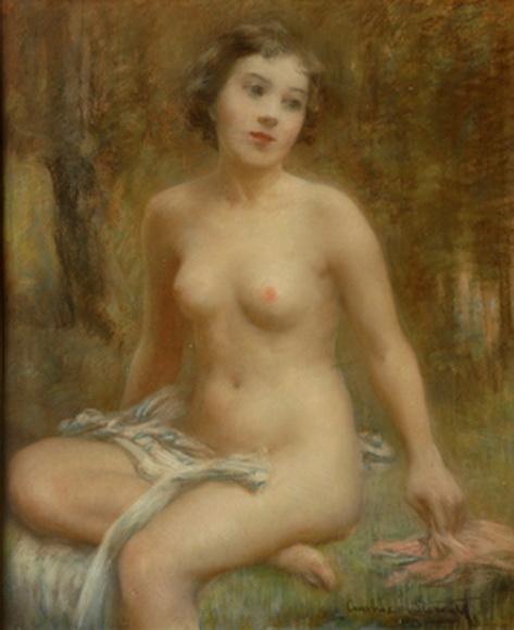 Janet Cumbrae-Stewart - Pensive Nude