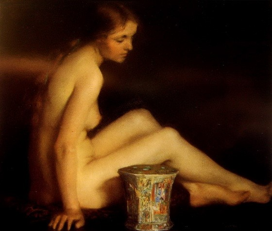 Janet Cumbrae-Stewart - Nude with Chinese Vase