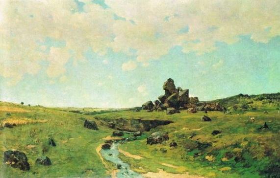 Antonin Chittussi - Landscape z Ceskomoravske vysociny